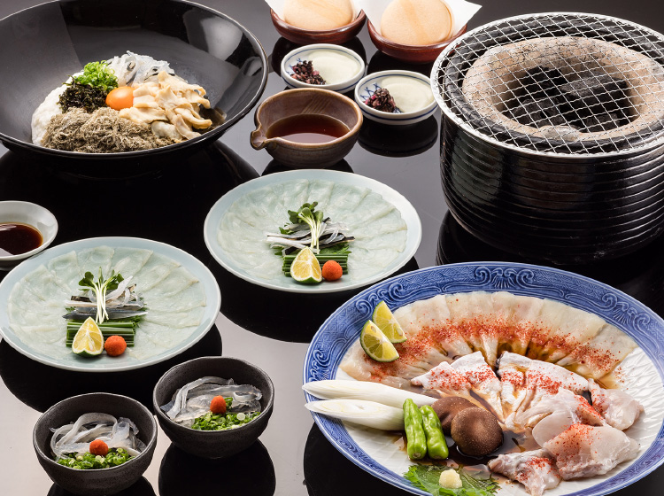 Charcoal-broiled Blowfish Set